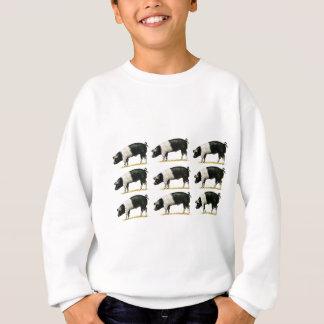 swine in a row sweatshirt
