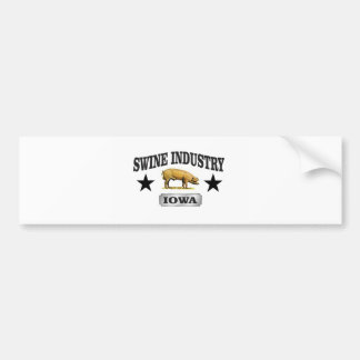 swine industry baby bumper sticker
