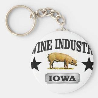 swine industry baby keychain
