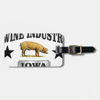 swine industry baby luggage tag