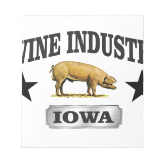 swine industry baby notepad
