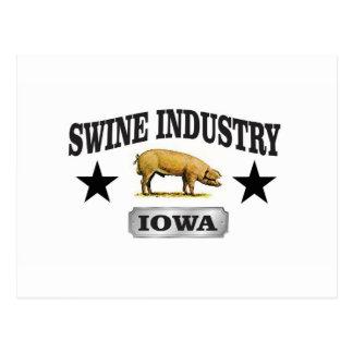 swine industry baby postcard