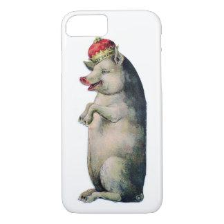 Swine King Vintage Pig iPhone 7 Case