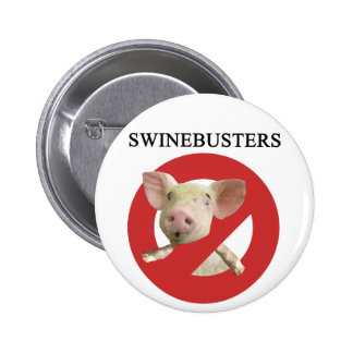Swinebusters! 2 Inch Round Button