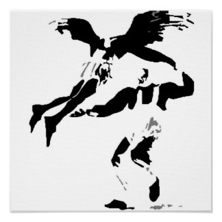 Swing Angel Wall Canvas Poster