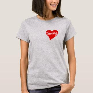 Swing Big Red Heart T-Shirt