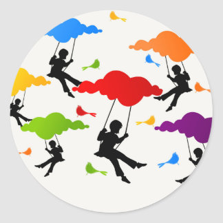 Swing Classic Round Sticker