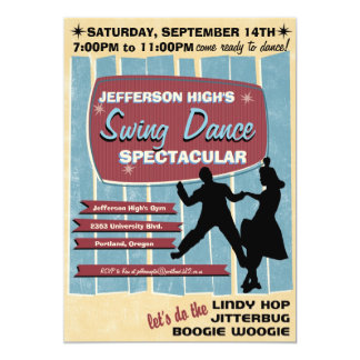 Swing Dance Party Invitation