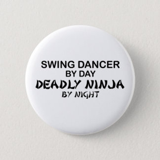 Swing Dancer Deadly Ninja by Night 2 Inch Round Button