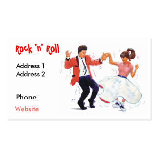 swing dancer with poodle skirt and saddle shoes po business card template