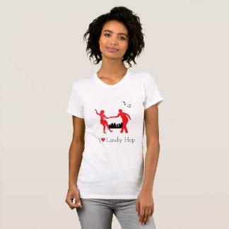 Swing Dancing Against City Skyline T-Shirt