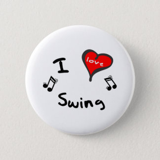 Swing Gifts - I Heart Swing 2 Inch Round Button