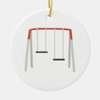 Swing Set Ceramic Ornament
