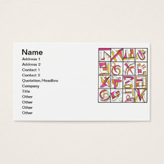 Swing Set-Whimsical Geometric Business Card