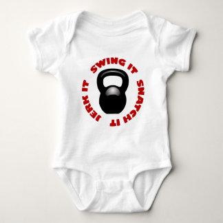 Swing Snatch Jerk Block (2100 x 2100 x 150 ppi) Baby Bodysuit
