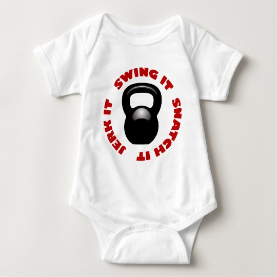 Swing Snatch Jerk Block (2100 x 2100 x 150 ppi) Baby Bodysuit