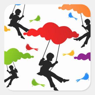 Swing Square Sticker