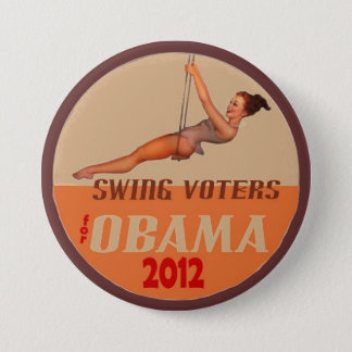 Swing Voters for Obama 2012 3 Inch Round Button