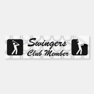 Swinger  club member bumper sticker