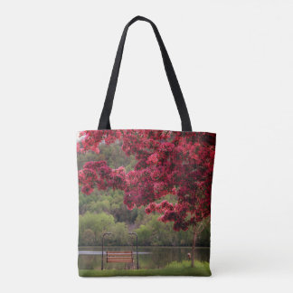 Swinging Bench Tote Bag