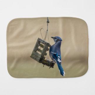 Swinging Blue Jay Burp Cloth