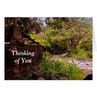 Swinging Bridges, Maui Hawaii, Thinking of You Card
