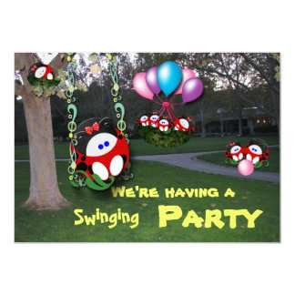 "Swinging Party 5"" X 7"" Invitation Card"