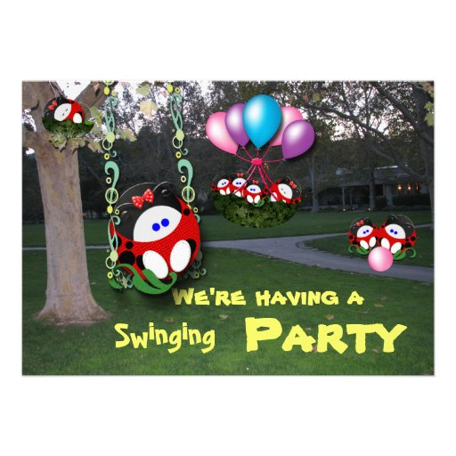 Swinging Party Personalized Announcements