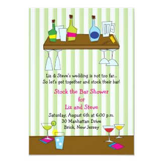 Swinging Stock the Bar Shower Invitation