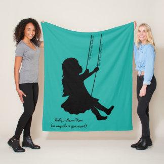 Swinging to the Clouds (M) Fleece Blanket