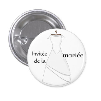 Swipes in invited of the bride 1 inch round button