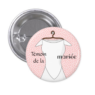 Swipes in pilot of the pink bride with pea 1 inch round button