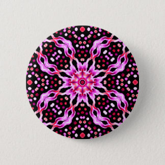 Swipes in Psychedelic Cellule Fractal 2 Inch Round Button