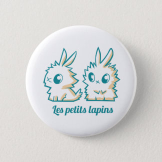 Swipes in small rabbits 2 inch round button