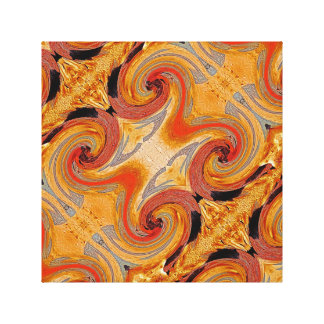Swirl 02-Colors of Rust 2.2, Rust-Art Canvas Print