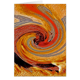 Swirl 02-Colors of Rust/Rust-Art Card