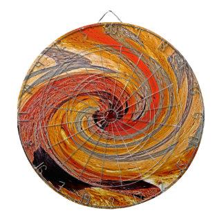 Swirl 02-Colors of Rust/Rust-Art Dartboard