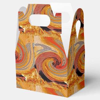 Swirl 02-Colors of Rust/Rust-Art Favor Box