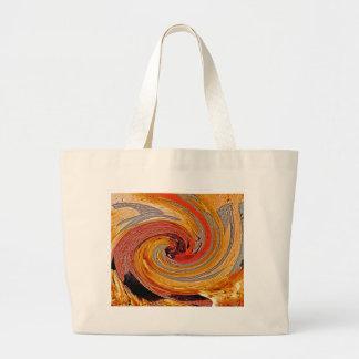 Swirl 02-Colors of Rust/Rust-Art Large Tote Bag