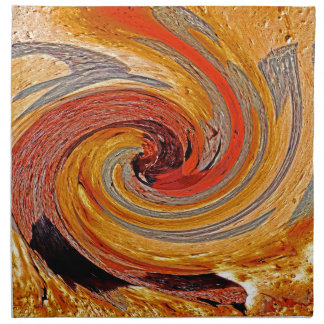 Swirl 02-Colors of Rust/Rust-Art Napkin