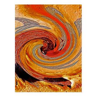 Swirl 02-Colors of Rust/Rust-Art Postcard