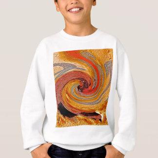 Swirl 02-Colors of Rust/Rust-Art Sweatshirt
