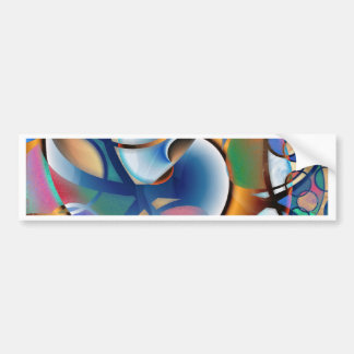 Swirl Abstract Bumper Stickers