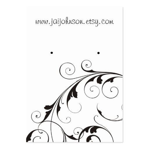 Swirl Background Earring Cards Business Cards