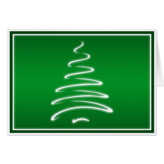 Swirl Christmas Tree in Green and White Card