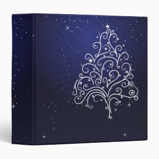 swirl christmas tree notebook 3 ring binder
