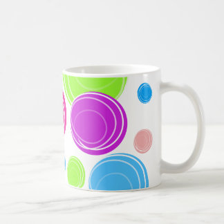 SWIRL CIRCLES CLASSIC WHITE COFFEE MUG