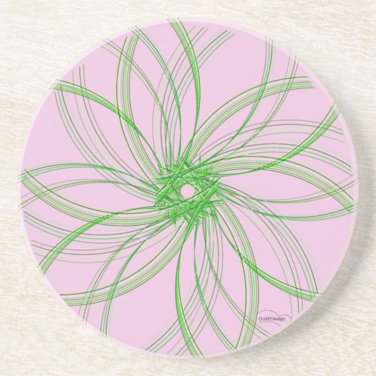 Swirl Coaster Piece2 Pink/Green
