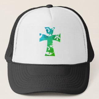 SWIRL CROSS TRUCKER HAT