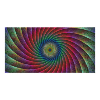 Swirl fractal personalized photo card